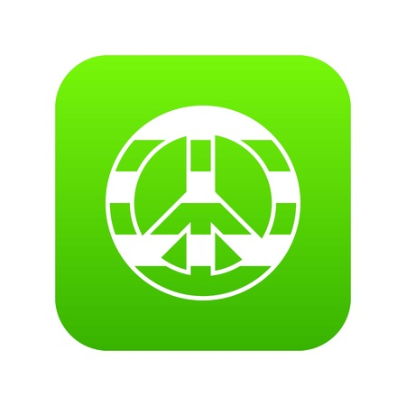 LGBT peace sign icon digital green