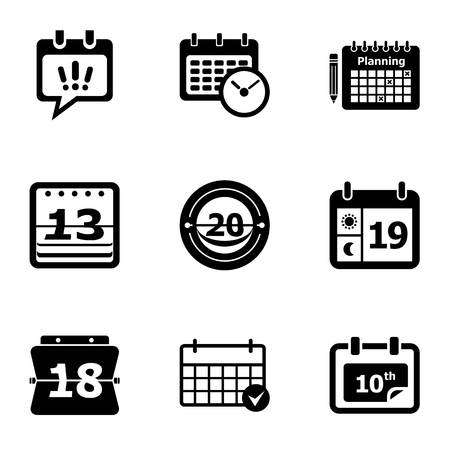 Yearbook icons set. Simple set of 9 yearbook vector icons for web isolated on white background