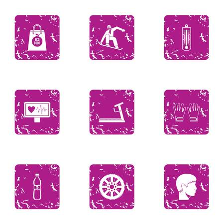 Clatter icons set. Grunge set of 9 clatter vector icons for web isolated on white background