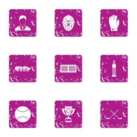 Precedence icons set. Grunge set of 9 precedence vector icons for web isolated on white background Banque d'images - 108539115