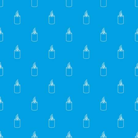 Romance candle pattern vector seamless blue repeat for any use Illustration