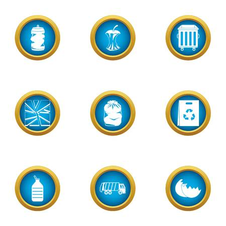 Smithereens icons set. Flat set of 9 smithereens vector icons for web isolated on white background 일러스트