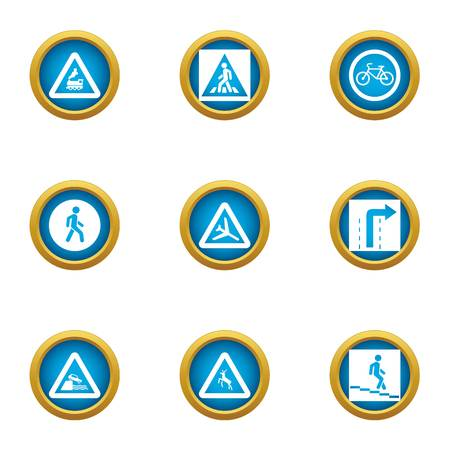 Sectoring icons set. Flat set of 9 sectoring vector icons for web isolated on white background