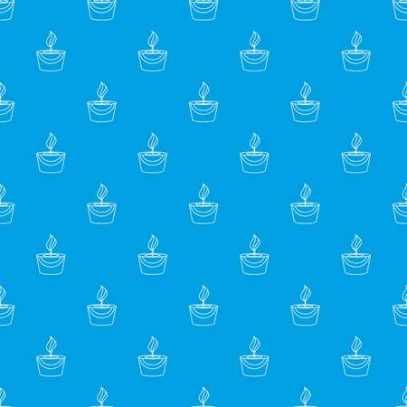 Candle pattern vector seamless blue repeat for any use