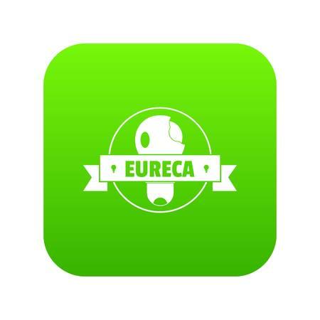 Eureka idea icon green vector