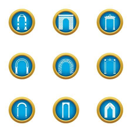 Aisle icons set. Flat set of 9 aisle vector icons for web isolated on white background