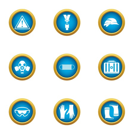 Preservation icons set. Flat set of 9 preservation vector icons for web isolated on white background