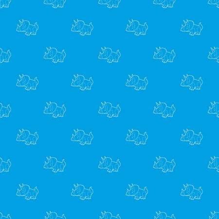 Triceratops pattern vector seamless blue