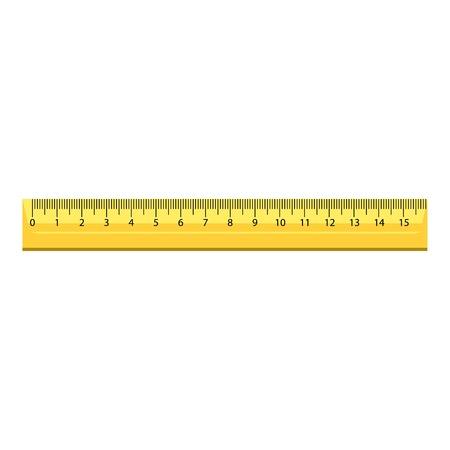 15 cm houten liniaal pictogram, realistische stijl