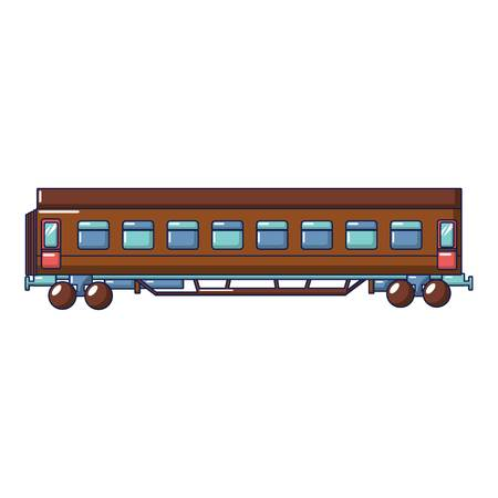 Passenger wagon icon, cartoon style Foto de archivo