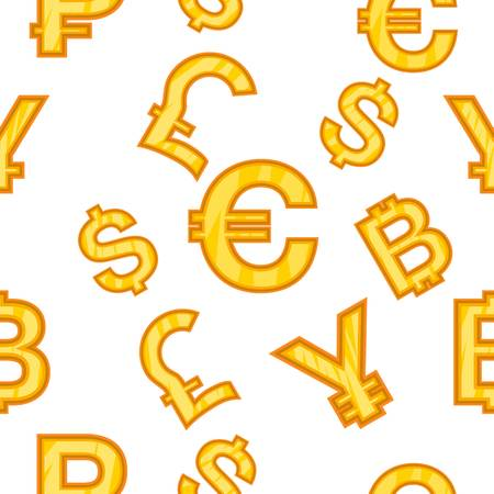 Currency pattern, cartoon style Stock Photo