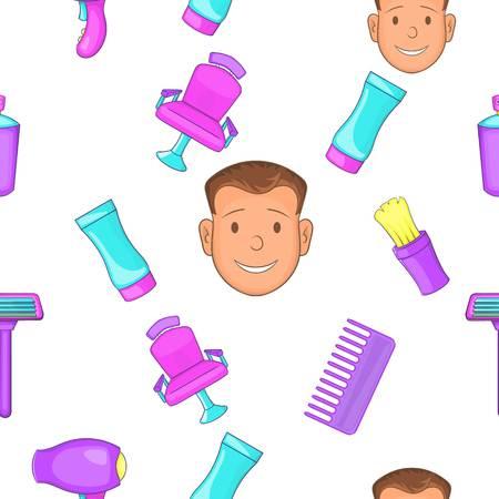 Hair cut pattern. Cartoon illustration of hair cut pattern for web Stock Photo