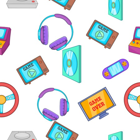 Game console pattern, cartoon style Stock Photo