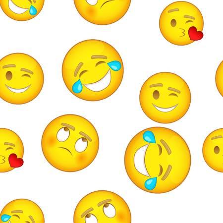 Emoji character pattern. Cartoon illustration of emoji character pattern for web design Фото со стока