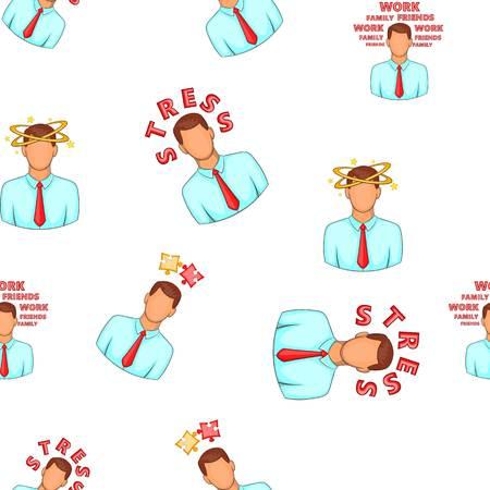 Stress pattern. Cartoon illustration of stress pattern for web design Stock Photo