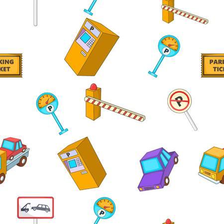 Parking pattern. Cartoon illustration of parking pattern for web