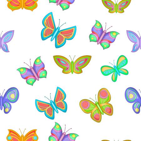 Butterfly pattern. Cartoon illustration of butterfly pattern for web