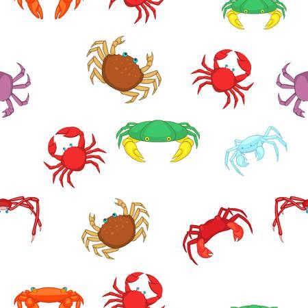 Crab pattern. Cartoon illustration of crab pattern for web