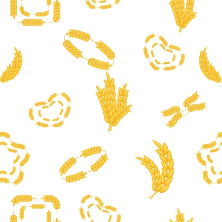 Wheat pattern. Cartoon illustration of wheat pattern for web Stock Photo