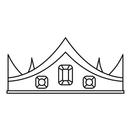 Crown icon. Outline illustration of crown icon for web