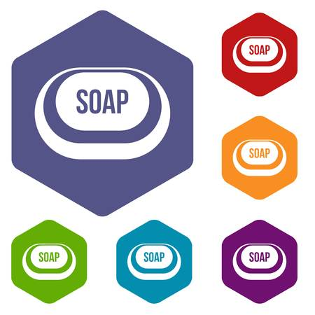 Soap icons set