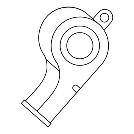 Whistle icon, outline style Stock Photo