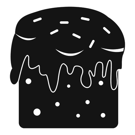 Easter cake icon , simple style