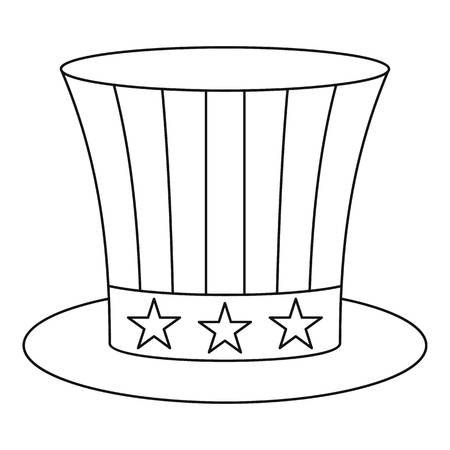 Uncle sam hat icon , outline style Stock Photo