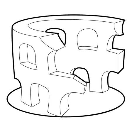 Coliseum icon. Outline illustration of coliseum icon for web Stock Illustration - 108874650