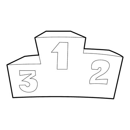 Podium icon. Outline illustration of podium icon for web