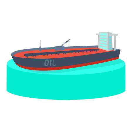 Ship tank icon. Cartoon illustration of ship tank icon for web