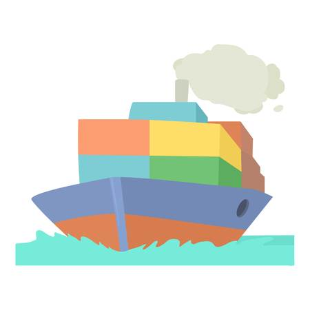 Ship icon. Cartoon illustration of ship icon for web Reklamní fotografie