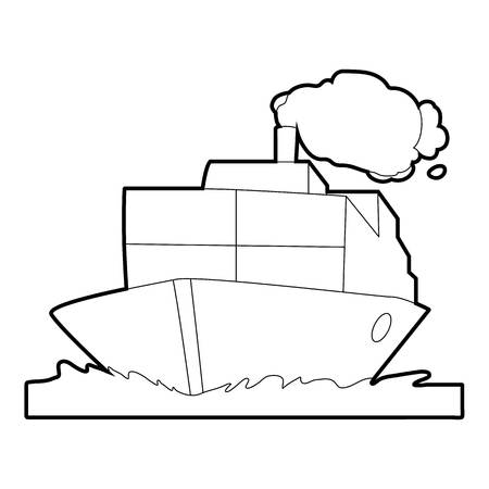 Ship icon. Outline illustration of ship icon for web Reklamní fotografie