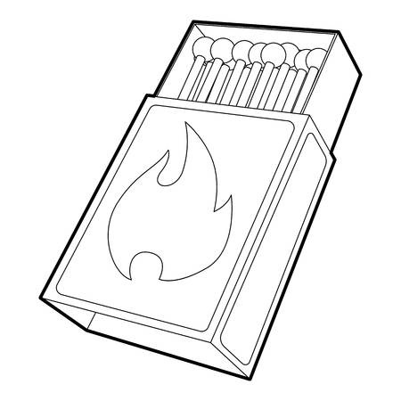 Box matches icon. Outline illustration of box matches icon for web Imagens - 108875136