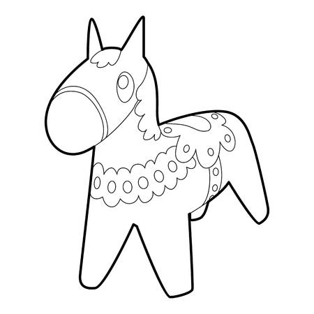 Toy horse icon. Outline illustration of toy horse icon for web