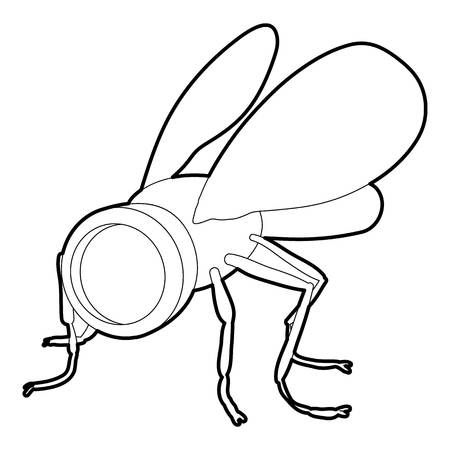 Spy fly icon. Outline illustration of spy fly icon for web