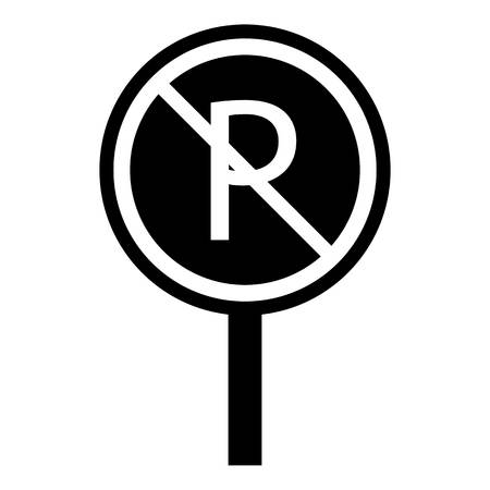 No parking icon. Simple illustration of no parking icon for web