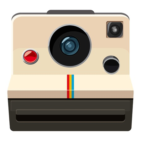 Camera icon, cartoon style Stock Photo