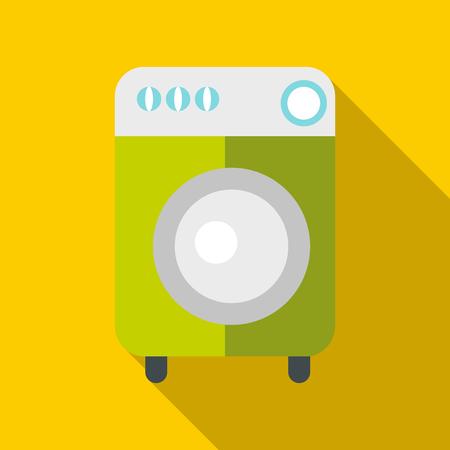 Washing machine icon. Flat illustration of washing machine icon for web Stock Photo