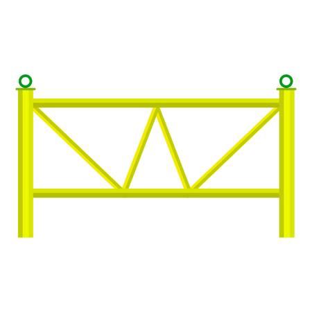 Yard fence icon. Cartoon illustration of yard fence icon for web
