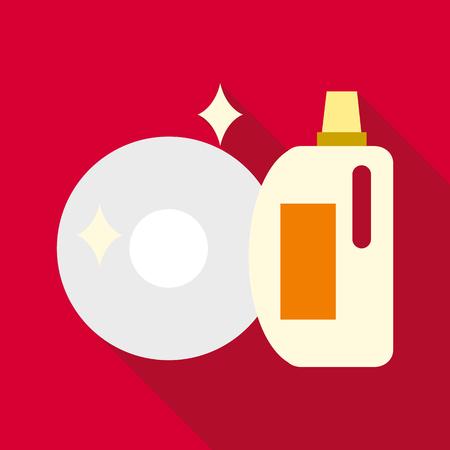 Wash up icon. Flat illustration of wash up icon for web