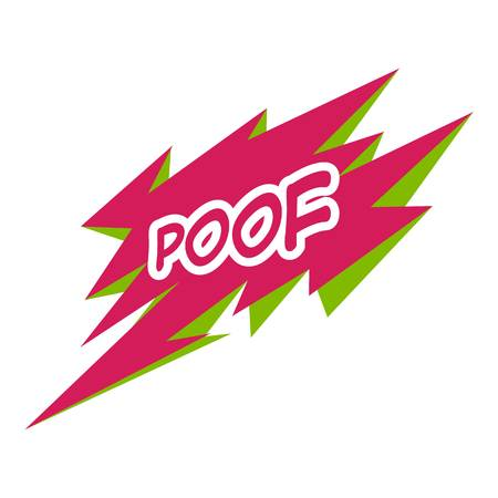 Poof icon. Pop art illustration of poff icon for web