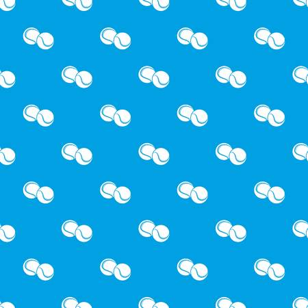 Tennis ball pattern vector seamless blue repeat for any use