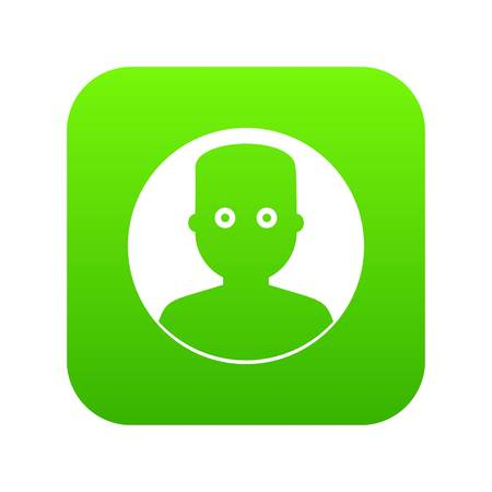 Man in the dark icon digital green for any design isolated on white vector illustration