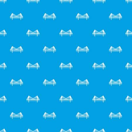 Bridge pattern vector seamless blue repeat for any use Illustration