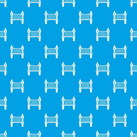 Tower bridge pattern vector seamless blue repeat for any use