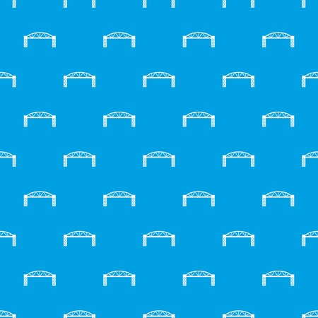 Metal bridge pattern vector seamless blue repeat for any use Stock Illustratie