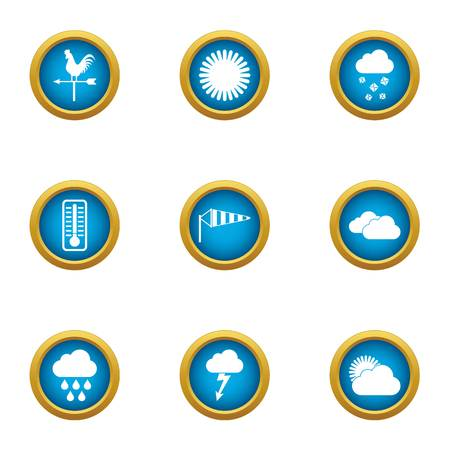 Giddy icons set. Flat set of 9 giddy vector icons for web isolated on white background