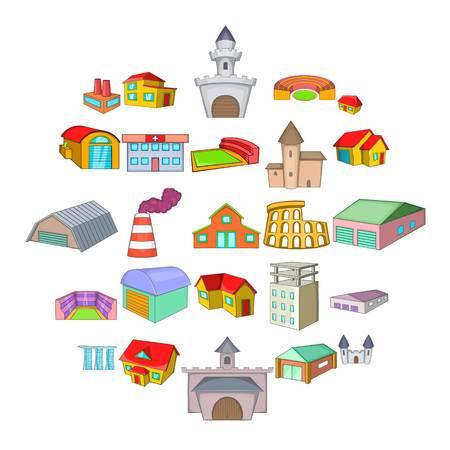 Installation icons set, cartoon style Illustration