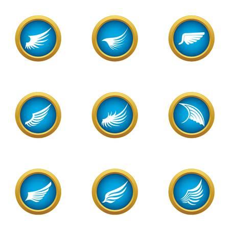 Flank icons set. Flat set of 9 flank vector icons for web isolated on white background Illustration